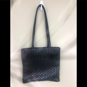 Nine West black woven tote